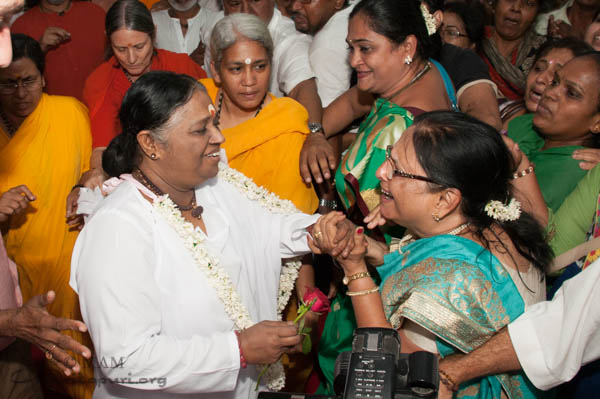 When Amma arrives...